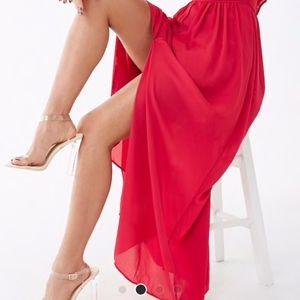 Shinestar (Forever21) Dresses - Blue billowy halter maxi dress